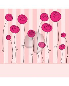 Flower Pink Stripe Computer Printed Photography Backdrop ABD-700