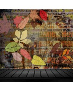 Graffiti Leaves Floor Computer Printed Photography Backdrop ABD-701