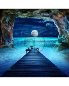 Full Moon Cave Bridge Computer Printed Photography Backdrop ABD-708
