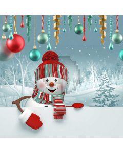Christmas Ball Snowman Computer Printed Photography Backdrop ABD-713