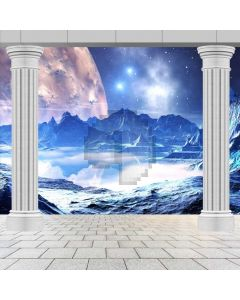 Arch Ice Mountain Star Computer Printed Photography Backdrop ABD-714