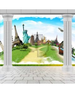 Pillar Grass The Statue Of Liberty Computer Printed Photography Backdrop ABD-715