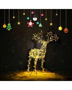 Reindeer Star Fir Tree Computer Printed Photography Backdrop ABD-718