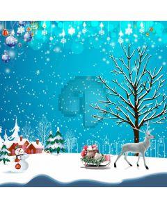 Christmas Ball Birch Holly Reindeer Computer Printed Photography Backdrop ABD-719