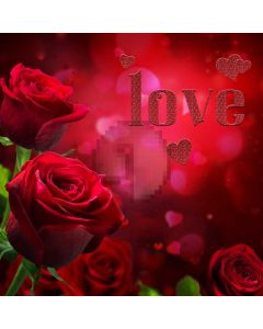 Wedding Red Rose Computer Printed Photography Backdrop ABD-721