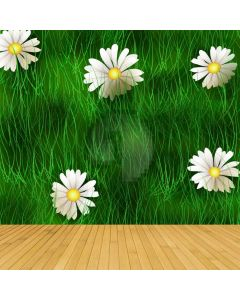 Blossom Green Grass Computer Printed Photography Backdrop ABD-726