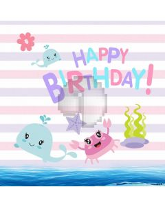 Birthday Cartoon Picture Computer Printed Photography Backdrop ABD-730