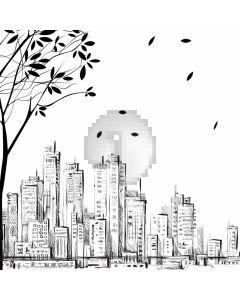 Tree City Computer Printed Photography Backdrop ABD-737