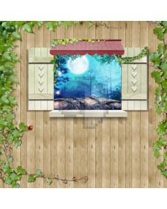 Window Leaves Beetel Computer Printed Photography Backdrop ABD-740