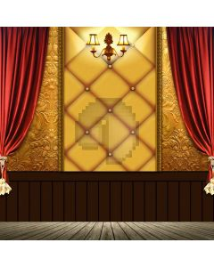 Curtain Light Wooden Floor Computer Printed Photography Backdrop ABD-744