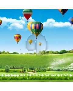 Nature Pasture Fence Balloon Computer Printed Photography Backdrop ABD-745
