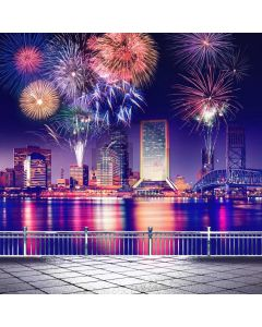 New Year Firework Rail Computer Printed Photography Backdrop ABD-757