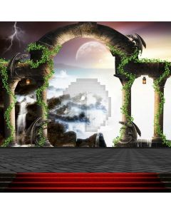 Stairs Lightning Arch Computer Printed Photography Backdrop ABD-759