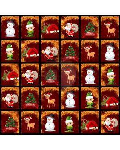 Snowman Holly Reindeer Santa Computer Printed Photography Backdrop ABD-760