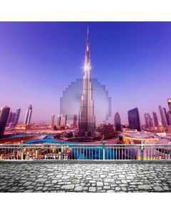Building Tower Rail Path Computer Printed Photography Backdrop ABD-768