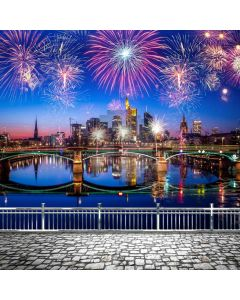 New Year 2020 Firework Stream Computer Printed Photography Backdrop ABD-774