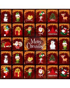 Snowman Santa Reindeer Computer Printed Photography Backdrop ABD-782