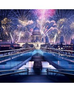 Fireworks Castle Computer Printed Photography Backdrop ABD-789