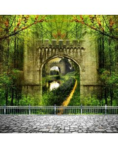Forest Rail Road Computer Printed Photography Backdrop ABD-794