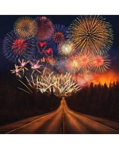 New Year Firework Road Computer Printed Photography Backdrop ABD-795