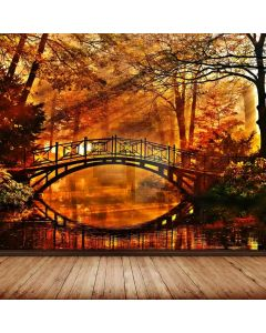 Woods Bridge River Computer Printed Photography Backdrop ABD-797