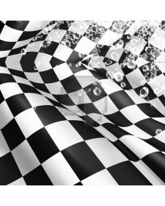 Square Black And White Computer Printed Photography Backdrop ABD-829