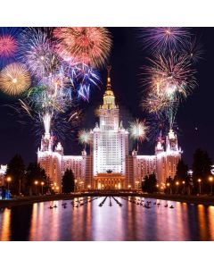 New Year Firework Computer Printed Photography Backdrop ABD-837