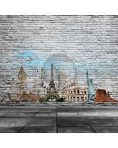 Brick Wall The Statue Of Liberty Computer Printed Photography Backdrop ABD-841