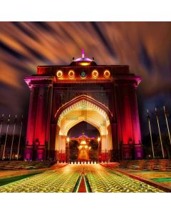 Grand Architecture Coloful Light Computer Printed Photography Backdrop ABD-850
