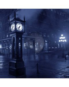 City Clock Street Rain Light Computer Printed Photography Backdrop ABD-854
