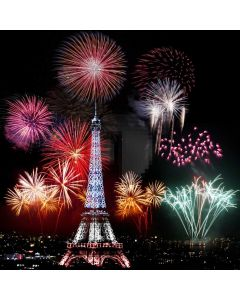 Fireworks Bright Shining Tower Computer Printed Photography Backdrop ABD-865