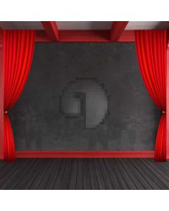 Wooden Floor Red Curtain Computer Printed Photography Backdrop ABD-866