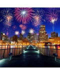 New Year Fireworks 2020 Computer Printed Photography Backdrop ABD-875