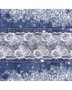 Denim Flower Texture Computer Printed Photography Backdrop ABD-881