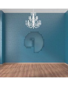 Indoor Light Bule Wall Computer Printed Photography Backdrop ABD-884
