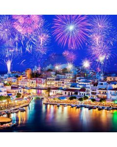 New Year Celebration House River Computer Printed Photography Backdrop ABD-909