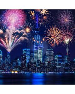 New Year Celebration Fireworks 2020 Computer Printed Photography Backdrop ABD-914
