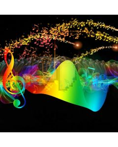 Colors Light Music Computer Printed Photography Backdrop ABD-928