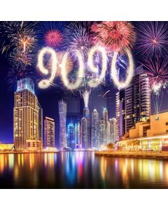 2020 New Year Firework Computer Printed Photography Backdrop ABD-947