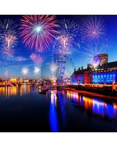 2020 New Year Sea Firework Computer Printed Photography Backdrop ABD-948
