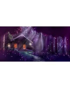 House Window Light Tree Computer Printed Dance Recital Scenic Backdrop ACP-1020