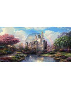 beauty castle Computer Printed Dance Recital Scenic Backdrop ACP-104