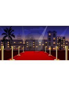 Pillar Red Carpet Tree Computer Printed Dance Recital Scenic Backdrop ACP-1078