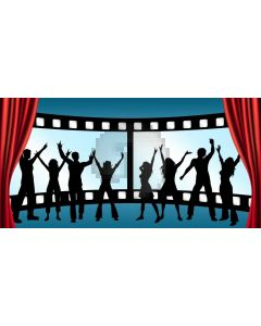People Curtain Computer Printed Dance Recital Scenic Backdrop ACP-1084