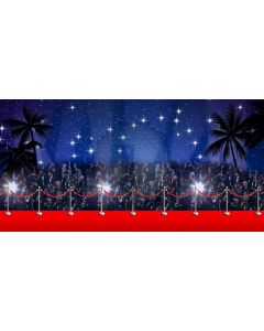 Star Red Carpet Tree Audience Computer Printed Dance Recital Scenic Backdrop ACP-1087