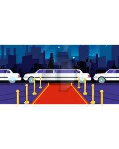 Red Carpet Car Pillar Computer Printed Dance Recital Scenic Backdrop ACP-1090