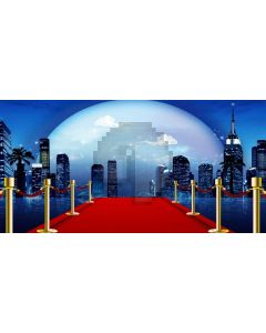 Pillar Cloud Red Carpet Computer Printed Dance Recital Scenic Backdrop ACP-1094
