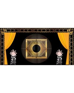 Curtain Flower Square Computer Printed Dance Recital Scenic Backdrop ACP-1096
