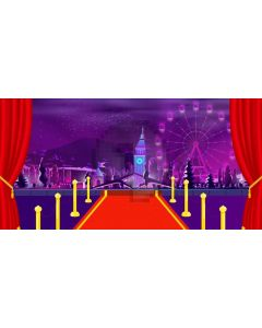 Red Carpet Pillar Computer Printed Dance Recital Scenic Backdrop ACP-1097