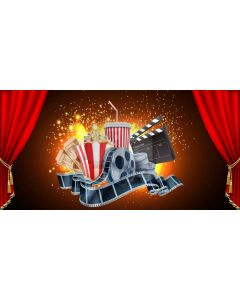 Curtain Film Drinks Computer Printed Dance Recital Scenic Backdrop ACP-1099